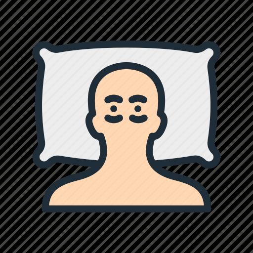 bed, disease, insomnia, night, pillow, sleep, sleeping icon