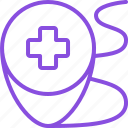 address, location, marker, medical, medicine, pharmacy, pin icon