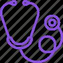 breath, device, heartbeat, medical, medicine, phonendoscope, stethoscope icon