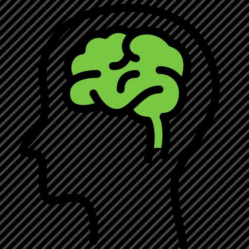 brain, head, hospital, medicine, mind, neurologist, think icon