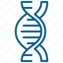 dna, knowledge, laboratory, medicine, offspring, research, science icon