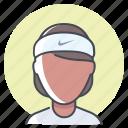 athlete, fitness, girl, marathon, runner, tracking, woman icon