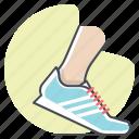 footwear, marathon, running, shoes, sprint, tracking, workout icon