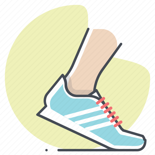 footwear, marathon, running, shoes, sprint, tracking, workout icon