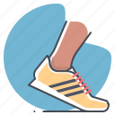 footwear, marathon, runner, shoes, sports, sprint, workout icon