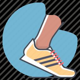 footwear, marathon, runner, shoes, sports, sprint, workout icon