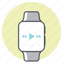 iwatch, music, play, race, sports, sprint, track icon