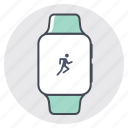 fitness, iwatch, marathon, race, sprint, tracking, workout icon