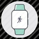 fitness, iwatch, marathon, race, sprint, tracking, workout icon
