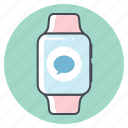 chat, chatting, iwatch, marathon, runner, running, support icon