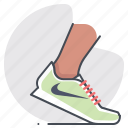 footwear, marathon, nike, running, shoes, sports, tracking icon