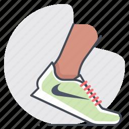 footwear, marathon, nike, running, shoes, sports, tracking icon