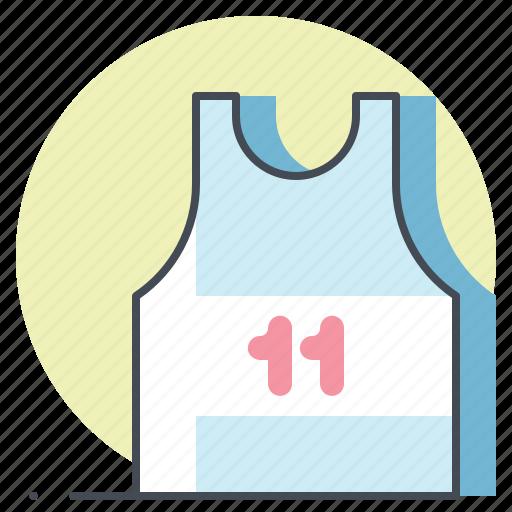 marathon, race, runner, sports, sprint, tshirt, workout icon