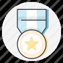 marathon, award, badge, gold, medal, star, winner