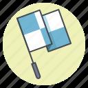 checkered flag, checkpoint, marathon, race, sports, start, starting sign icon