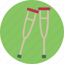 crutch, crutches, health, medicine icon