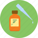 bottle, dripper, medicine, supplies, test icon