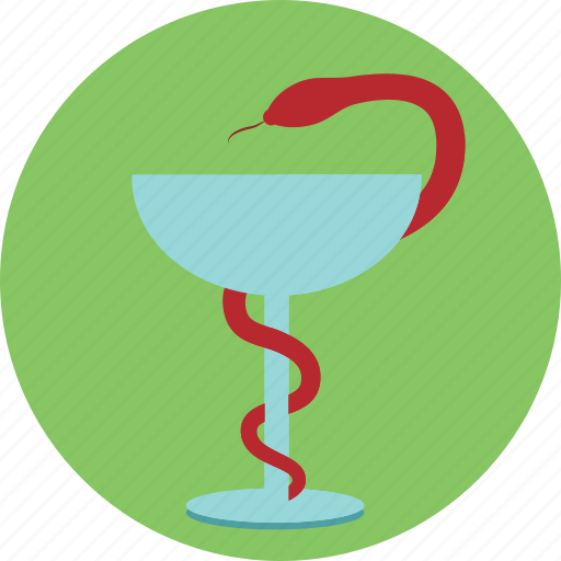 glass, health, medical, medicine, red cross, snake icon