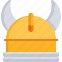 clothing, fashion, helmet, horn, medieval, pirate, protection icon