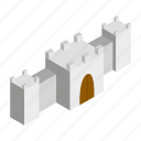 ancient, castle, citadel, fantasy, fort, fortress, isometric icon