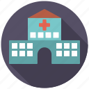 building, clinic, healthcare, hospital, infirmary, medical icon