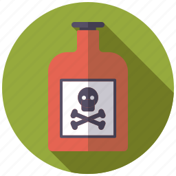 bottle, danger, healthcare, medical, pharmacy, poison, skull icon