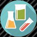 beaker, flask, glassware, healthcare, laboratory, medical, test tube icon