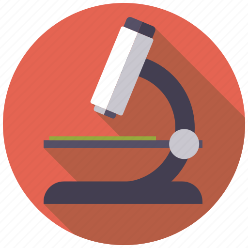 equipment, healthcare, laboratory, magnification, medical, microscope, science icon