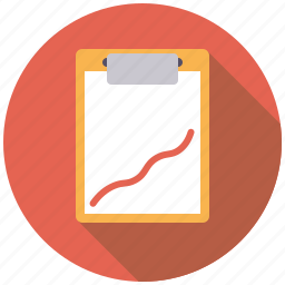 clipboard, document, graph, healthcare, medical, recovery icon