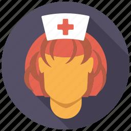 doctor, female, healthcare, medical, nurse, woman icon