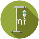 drip, healthcare, infusion, iv, medical, pole, stand icon