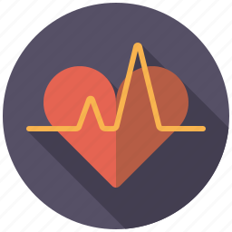 curve, graph, healthcare, heart, heartbeat, medical icon