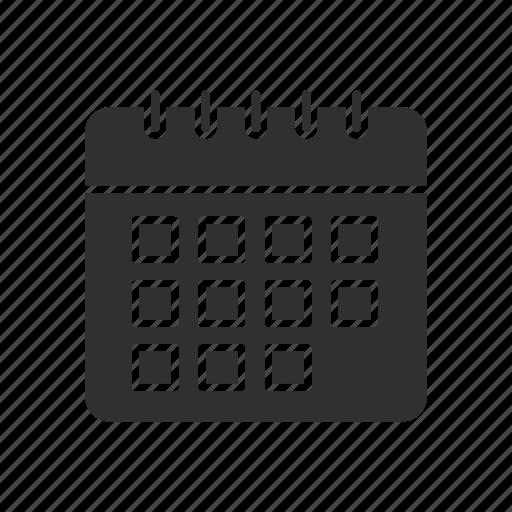 calendar, events, month, schedule icon