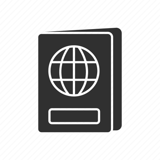 passport, travel, travel documents, usa passport icon