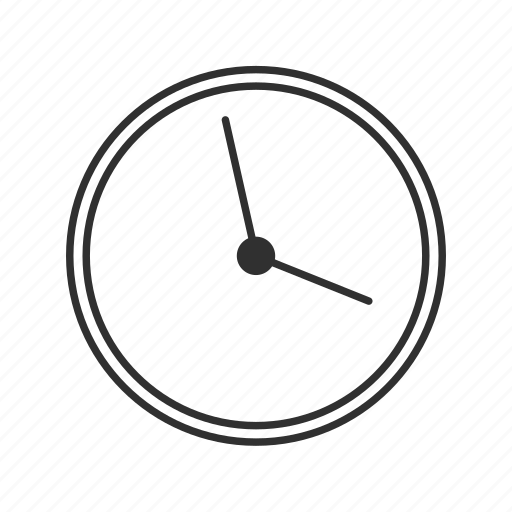 analog clock, circle clock, clock, minimalistic clock, school clock, time, wall clock icon