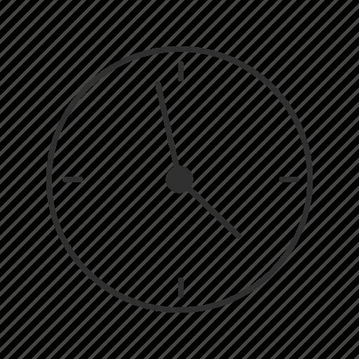 analog clock, circle clock, clock, modern clock, quarter clock, time, wall clock icon