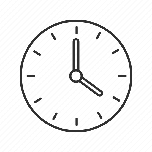 circle clock, clock, hanging clock, mechanical clock, school clock, time, wall clock icon