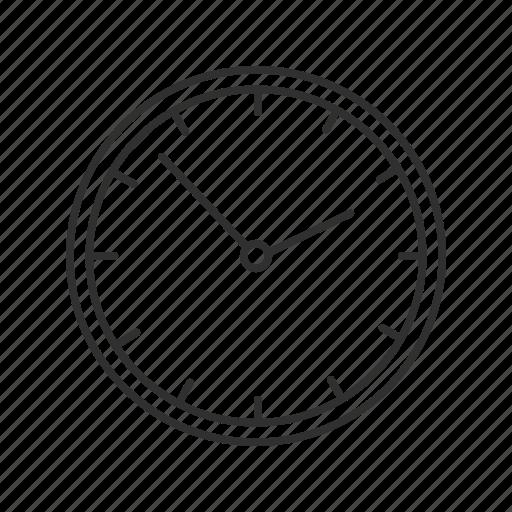 analog clock, circle clock, clock, home clock, mechanical clock, wall clock icon