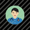 avatar, doctor, man, portrait, student