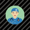 avatar, doctor, man, portrait, profession, student