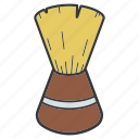 barber brush, brush, neck brush, shave, shaving brush, toiletries icon