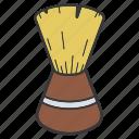 barber brush, brush, neck brush, shave, shaving brush, toiletries icon
