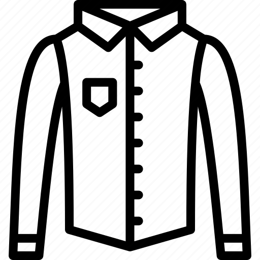 clothing, collared, fashion, mens, menswear, shirt icon