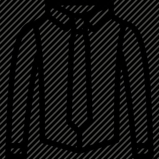 clothing, collared, fashion, mens, menswear, shirt, tie icon