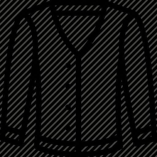 Cardigan, clothing, fashion, mens, menswear icon - Download on Iconfinder