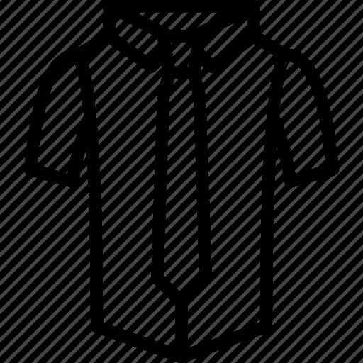 clothing, mens, menswear, shirt, short, sleeved, tie icon