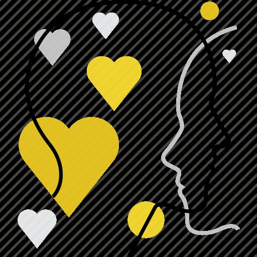 couple, emotions, feelings, heart, love, people, sensitivity icon