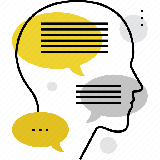 chat, dialog, inner, mind, opinion, personality, thinking icon