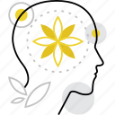 brain, free, meditation, mental, mind, relaxation, rest, restoration icon