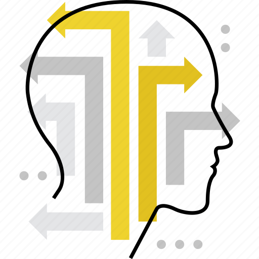 choice, decision, mind, strategy, thinking, variants, ways icon